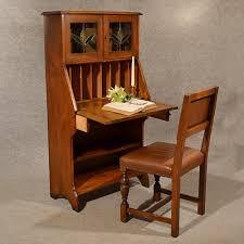 antique bureau writing study desk oak liberty quality english arts