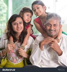 happy indian family home asian parents stock photo 311534255