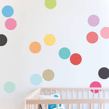 Circle Wall Decals Ideas For by Bight And Colourfull Confetti Wall Sticker Dots Are A Simple Way