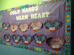 cold hand warm heart winter craft preschool cute bulletin board