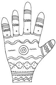 Imprimer le coloriage graphique de la main vagues  Tête à modeler