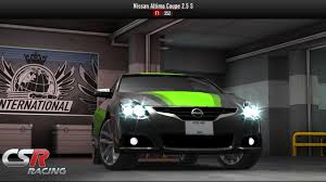 nissan altima coupe race csr racing car preview nissan ultima coupe max upgrade test
