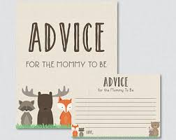to be cards baby shower advice cards advice for new raccoon baby