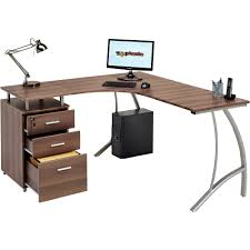 large corner computer desk a4 filing drawer for home office