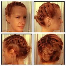 updo braids for short hair
