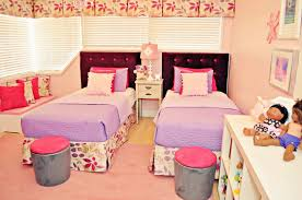 little girls twin bed live laugh decorate pink meets purple in our kids room reveal