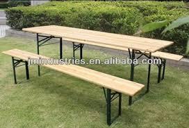 Beer Garden Tables by Folding Wooden Beer Garden Table And Bench Buy Folding Wooden