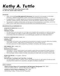 Sample Objective On Resume by Good Example Of A Resume Sample Resume Template Free Resume