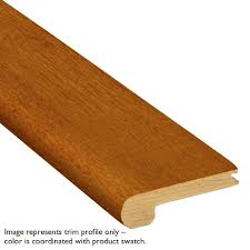 Laminate Flooring For Stairs Bullnose Bruce Gunstock Oak 3 4 In Thick X 3 1 8 In Wide X 78 In Length
