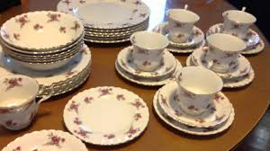 separation sale royal albert country roses dinner set