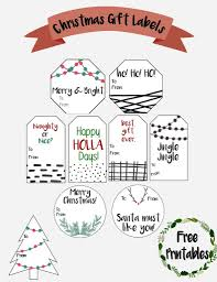 modern christmas gift tag labels