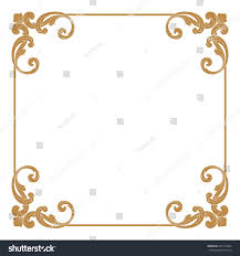 premium gold vintage baroque ornament frame stock vector 461176024