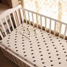 Crib Mattress Fitted Sheet 1pc Baby Bed Fitted Sheet Black White Style Knitted 100 Cotton