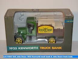 kenworth truck centre ertl john deere 1925 kenworth truck bank u0026 john deere truck bank