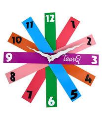 amiraj plastic rainbow wall clock buy one u0026 get one buy amiraj