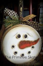 snowman painted on the bottom of a pan with handled add some