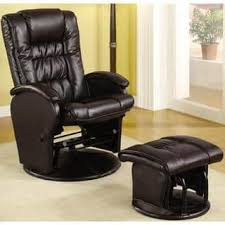 homcom pvc leather recliner and ottoman set cream swivel recliner chairs rocking recliners for less overstock com