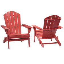 Patio Chairs Hton Bay Chili Folding Outdoor Adirondack Chair 2 Pack