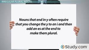 singular u0026 plural nouns definitions rules u0026 examples video