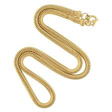 gold chain necklace snake images Retro gold snake chain necklace for sale at 1stdibs jpg