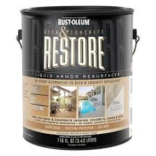 rust oleum restore 3 43 l liquid armor deck and concrete tint base