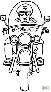 motorcycle policeman coloring page free printable coloring pages