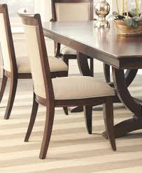 alyssa dining table in dark cognac by coaster w options