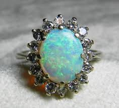 vintage opal engagement rings opal ring vintage opal engagement ring 1 65 carat australian opal