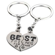 best key rings images Best friends forever quot 2 parts broken heart keychains jewelry gift jpg