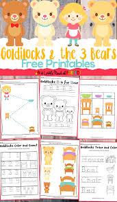 goldilocks and the three bears free printables