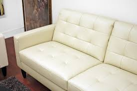 Caledonia Cream Leather Modern Sofa Set Affordable Modern - Cream leather sofas