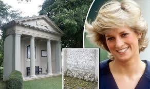 princess diana gravesite diana s isle to emerge from years of neglect after complaints