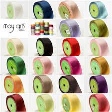 may arts silk ribbon 32mm silk ribbon may arts 32 colours per metre