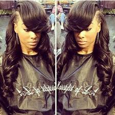 back hair sewing hair styles deep side part sew in stylists pinterest stylists