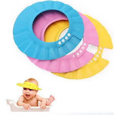 baby shower hat 3 colors safe shoo shower bath protection soft caps baby hats