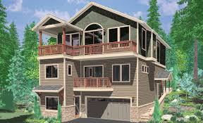 3 story houses hillside home plans with basement sloping lot house plans
