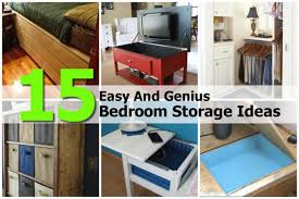 15 easy and genius bedroom storage ideas within diy projects for
