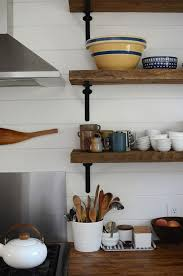 outstanding reclaimed wood kitchen shelves with best images about