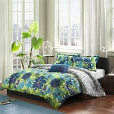 Purple And Green Bedding Sets Turquoise Blue U0026 Purple Hawaiian Tropical Comforter Set
