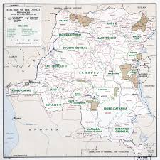 Republic Of Congo Map Large Scale Map Of Republic Of The Congo With Provinces And Ethnic