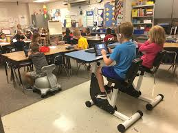 Student Chairs With Desk by Fit Classrooms Exercise Moves From Gym To Desk