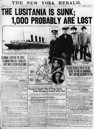 sinking of the lusitania may 8 1915 the new york herald reports the sinking of the