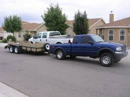 towing with ford ranger on bump stops overloaded when towing pics ranger