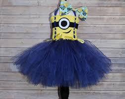 Girls Minion Halloween Costume Minion Costume Etsy