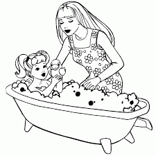 pictures barbie drawing coloring drawing art gallery