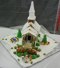Christmas Cake Decorations Church by 19 Best Gingerbread Churches Images On Pinterest Christmas