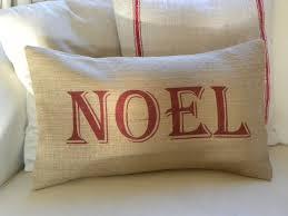 noel burlap christmas pillow cover 28 50 via etsy christmas