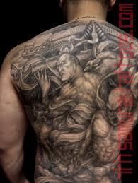 nio guardians agyo ungyo raijin fujin fighting demons before