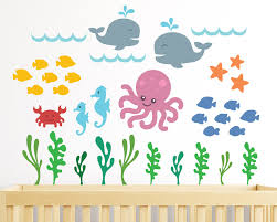 underwater kids wall decal ocean nursery wall decals whale details underwater ocean nursery wall decals or kids