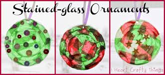 stained glass plastic lid ornaments i crafty things